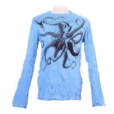 Koszulka Octopus Attack Turquoise - długi rękaw