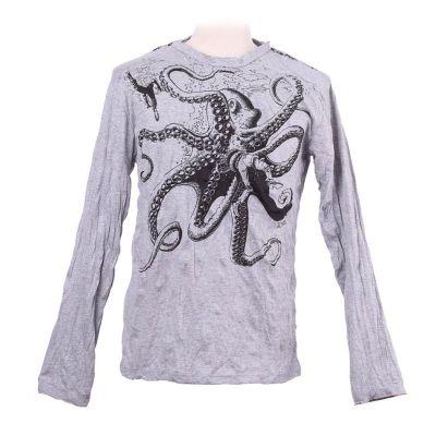 Koszulka Octopus Attack Grey - długi rękaw
