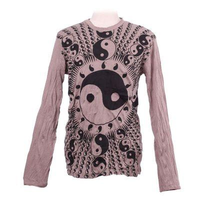 T-shirt Yin&Yang Brown - długi rękaw